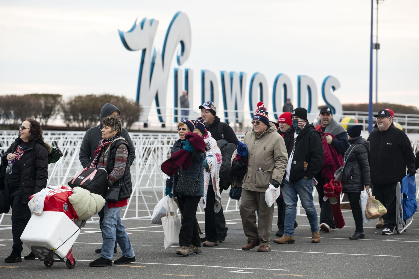 Trump fans have descended on Wildwood to camp out overnight for a seat at the rally