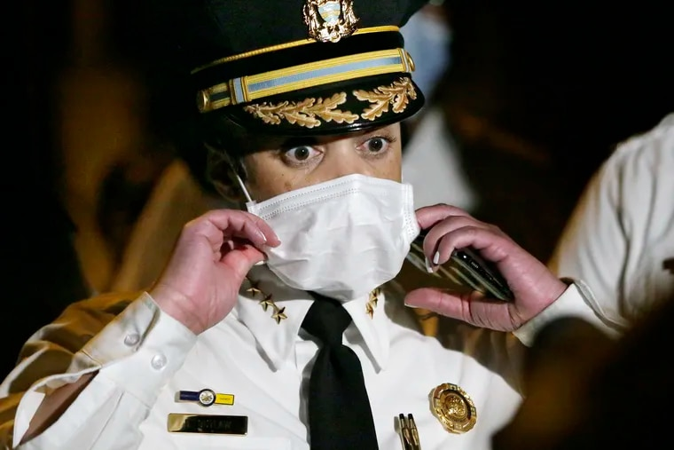 File photo of Philadelphia Police Commissioner Danielle Outlaw on Aug. 1, 2020.