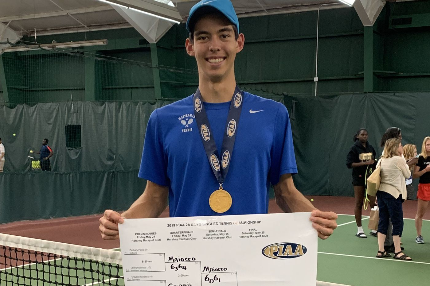 Masterman's Jonathan Nottingham follows his plan and wins a second straight state singles tennis title