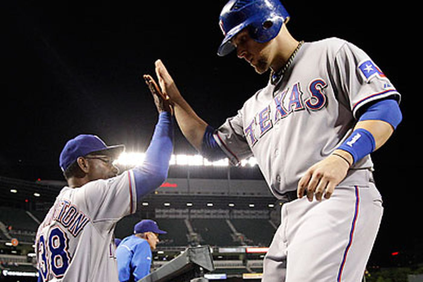Snyder, Rangers pound Orioles