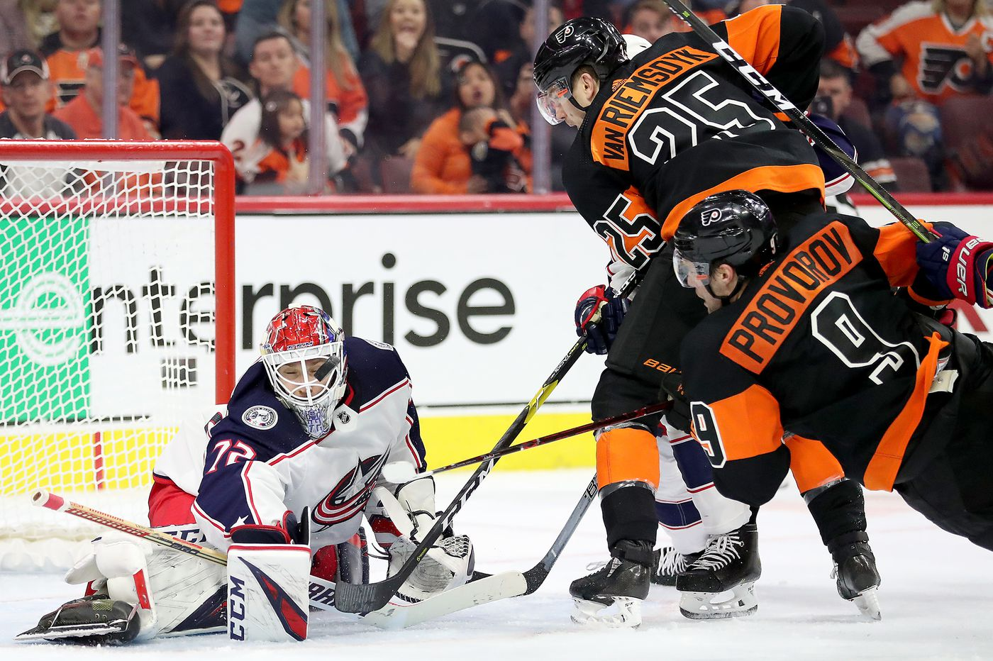 Desperate Flyers looking for first win in four tries against Blue Jackets this season