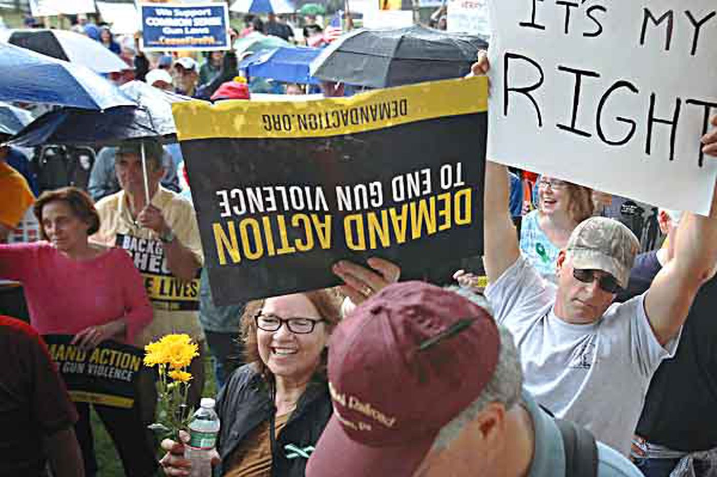 Pro and anti-gun groups rally in Morrisville