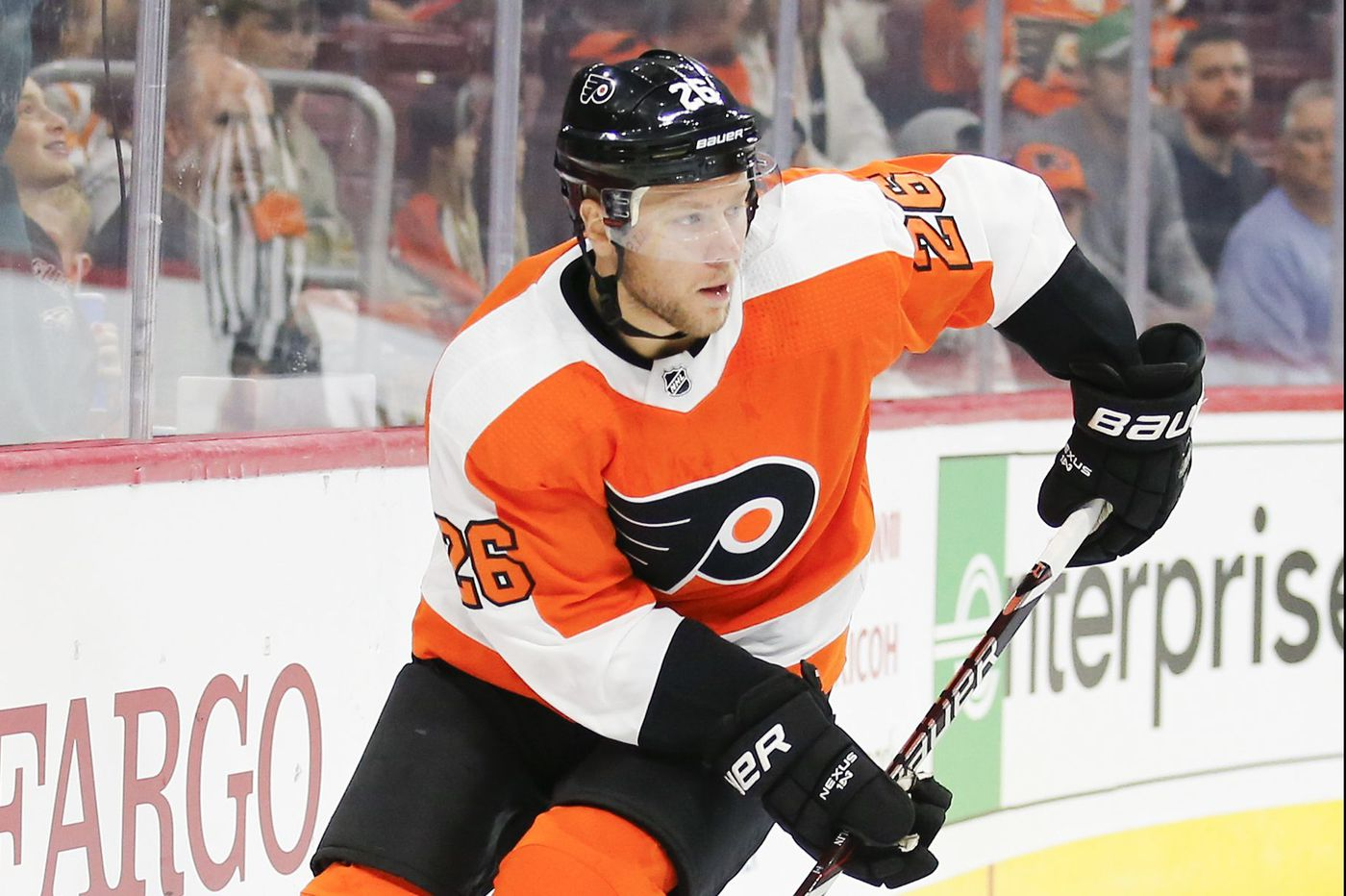 Flyers' Christian Folin provided a spark after replacing injured Shayne Gostisbehere with less than an hour's notice
