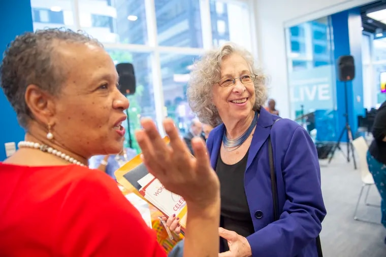 Lynne Cutler (right) founded Women's Opportunities Resource Center 25 years ago to develop self-sufficiency among disadvantaged woman through entrepreneurship. Donna Allie, CEO of Team Clean, Inc., a janitorial service in Philadelphia, is a WORC board member.