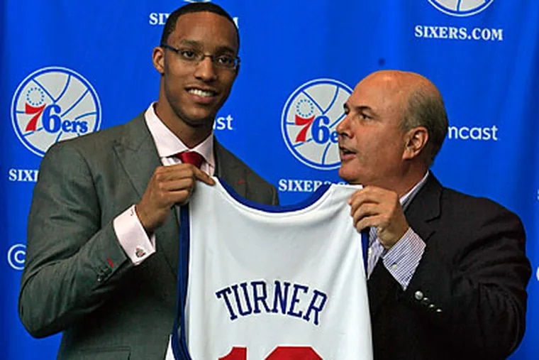 Young players such as Evan Turner could give the 76ers a bright future. (Akira Suwa/Staff file photo)