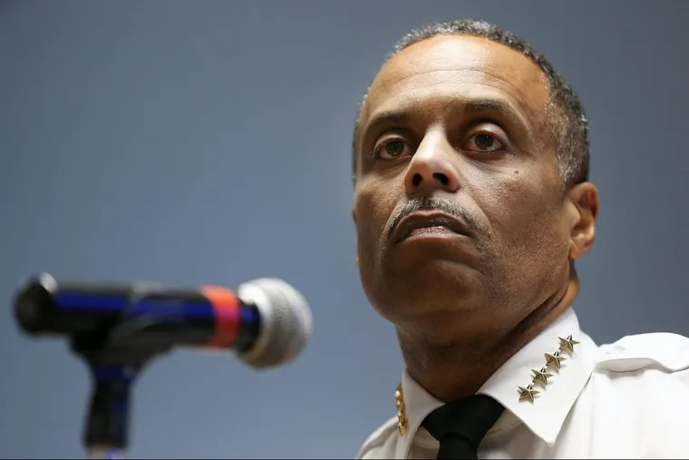 Philadelphia Police Commissioner Richard Ross listens to a question Tuesday during a news conference in the Municipal Services Building announcing the city's support of opening a safe-injection site.