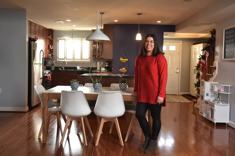 """Eliana Kee and her husband, Brian, looked at single-family homes but ultimately decided on a townhouse near where they already lived. """"The neighborhood and commute were more important than the size of the place,"""" Brian Kee said."""