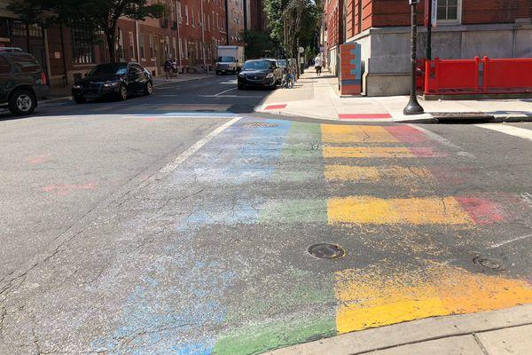 Philadelphia's rainbow crosswalks are falling apart. Will anyone fix them?