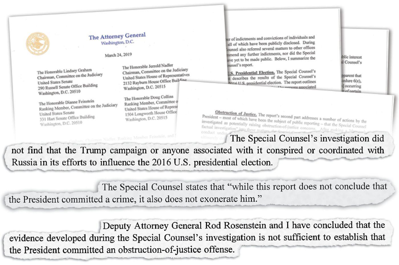 Trump didn't coordinate with Russia in 2016, Mueller report declares