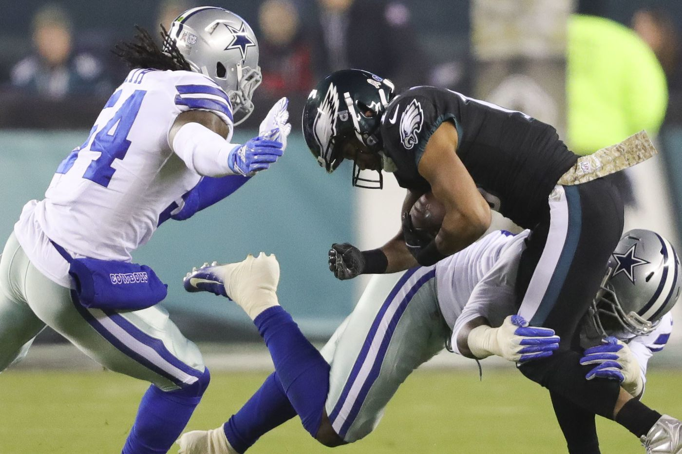Eagles' Lane Johnson couldn't get his knee ready after all; Golden Tate returns punts