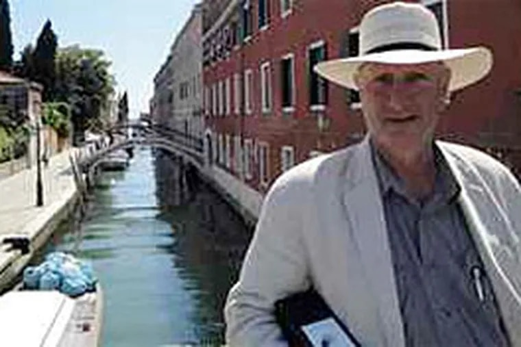 Artist Bruce Nauman in Venice, where his work will be shown at the Biennale. The art world sees him as its elder statesman of innovation. (Peter Dobrin / Staff)