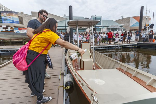 This motorboat, the Jawn, is the handiwork of Philly teens