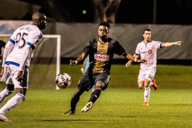 Prior to Saturday's game, Philadelphia Union rookie midfielder Marcus Epps had only suited up for the team in preseason contests.