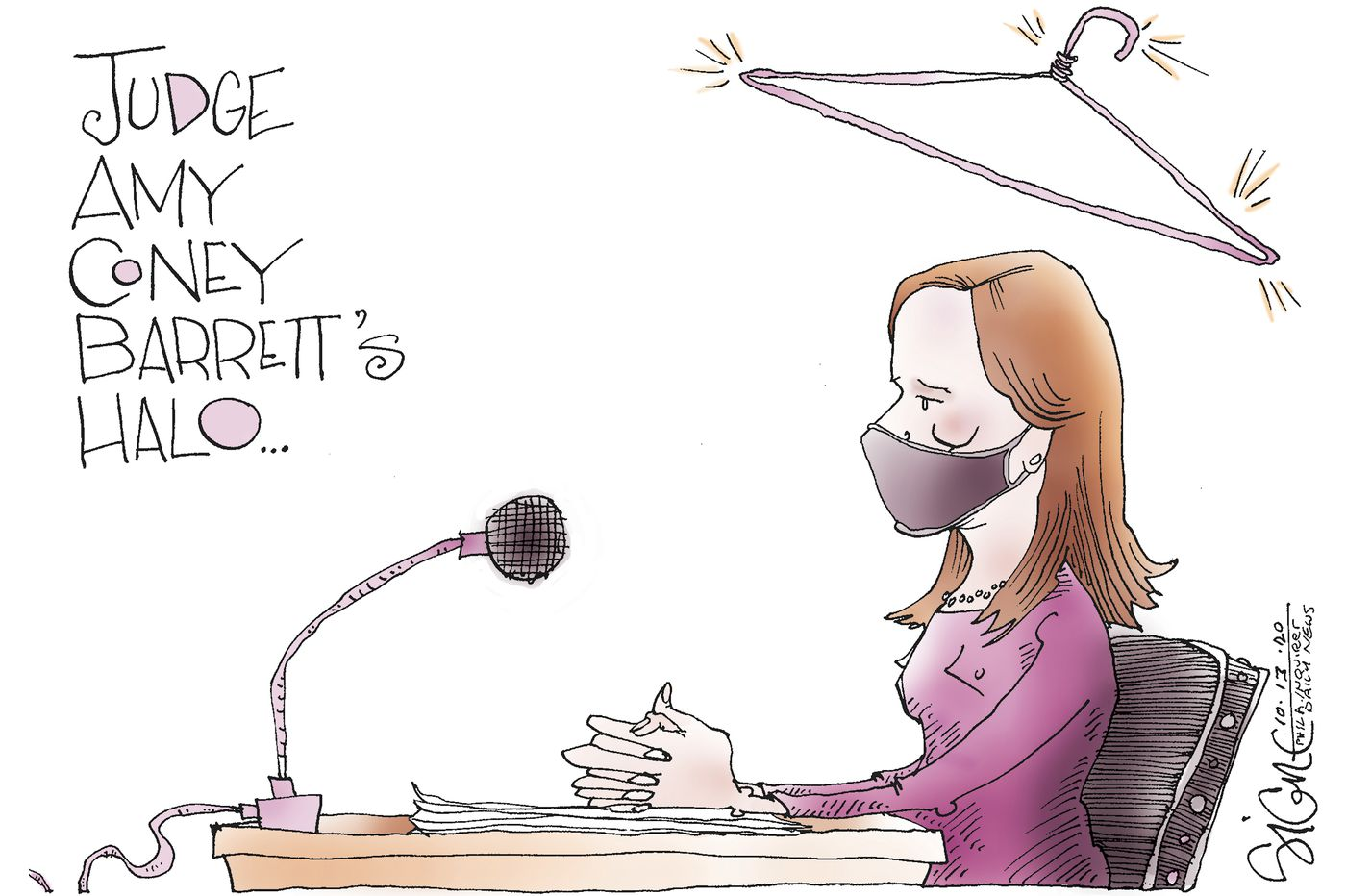 Political Cartoon: Amy Coney Barrett's confirmation halo