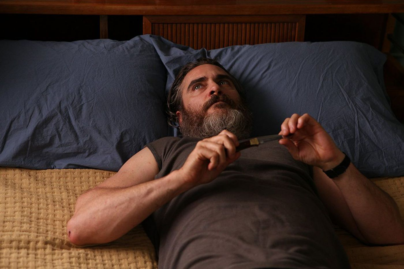 'You Were Never Really Here': Joaquin Phoenix's gruesome contract killer flick never really gels | Movie review