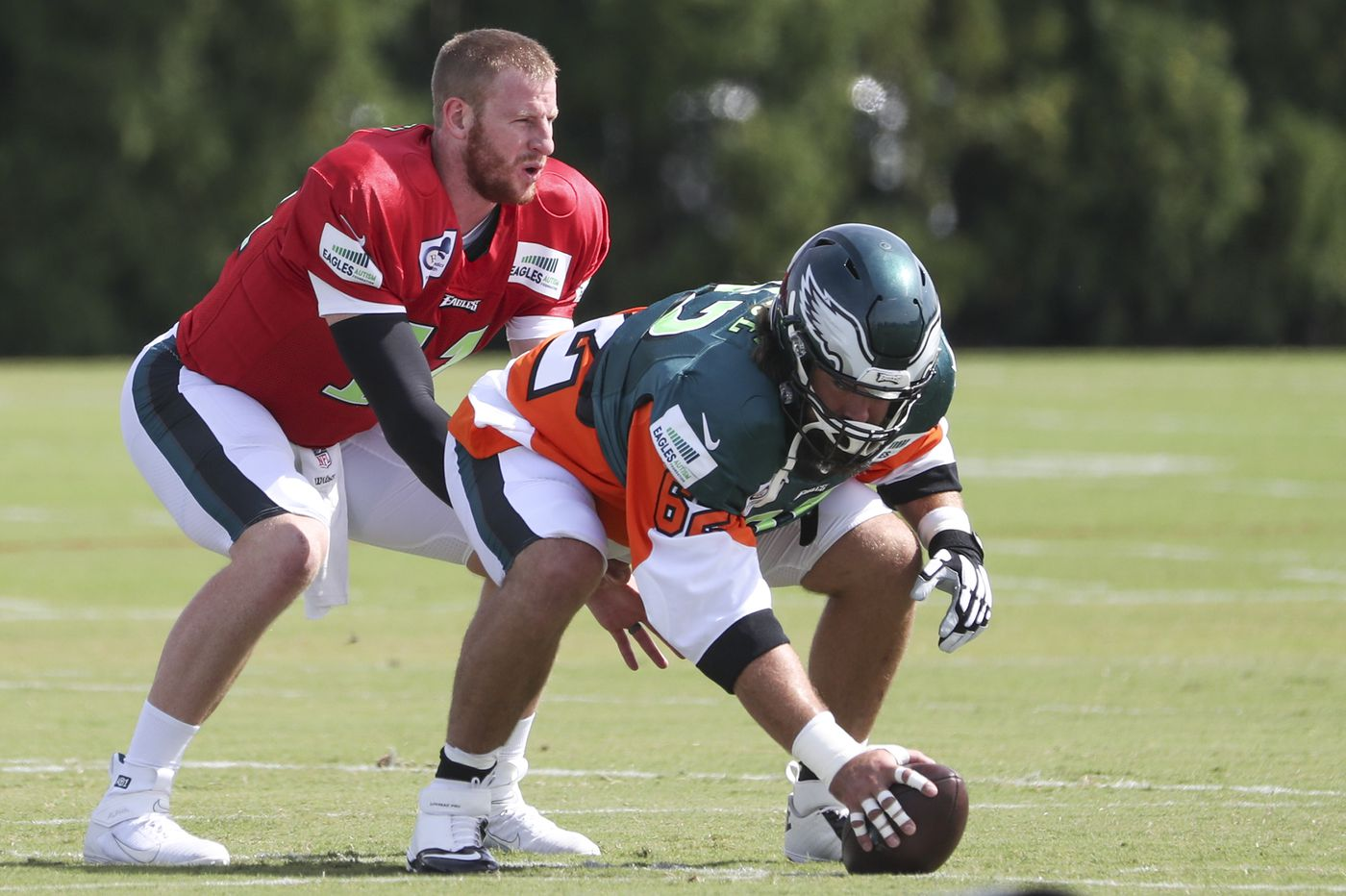 Eagles' offense trying to develop timing while on the clock, just like other teams. Look for low early-season scores.