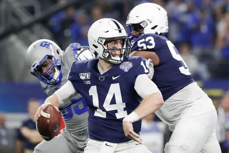Penn State quarterback Sean Clifford enters his second season. He was good last year.