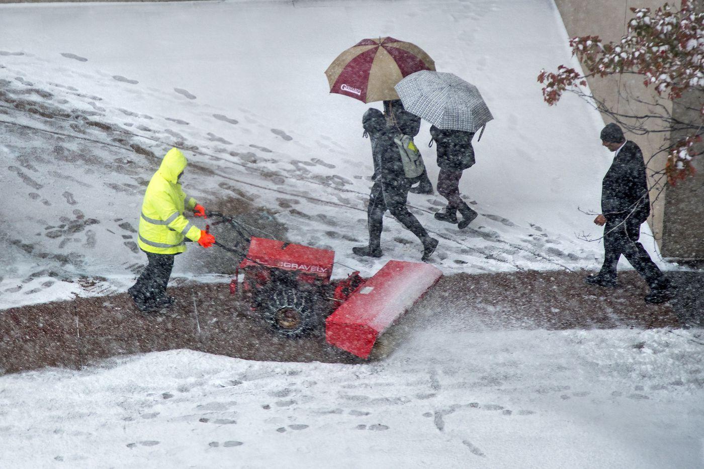 Surprise! Biggest November snow in three decades snarls region.