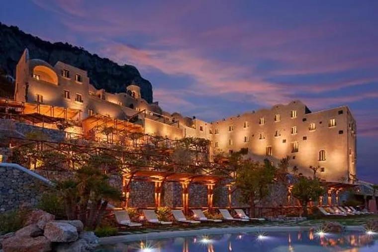 The Monastero Santa Rosa Hotel & Spa in Conca dei Marini, Italy, topped TravelAdvisor's Top 10 list of new hotels in 2012 (www.traveladvisor.com).