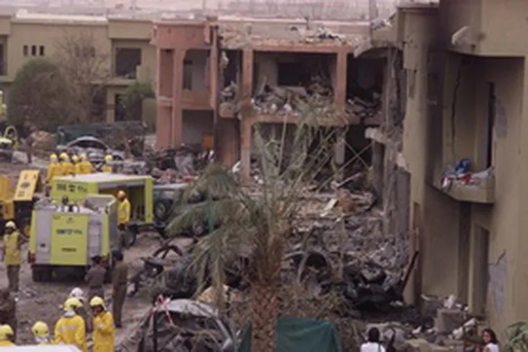 Al-Qaeda turned on Saudi Arabia in May 2003, bombing this housing complex. The Saudi government used the attack on it in its legal defense.