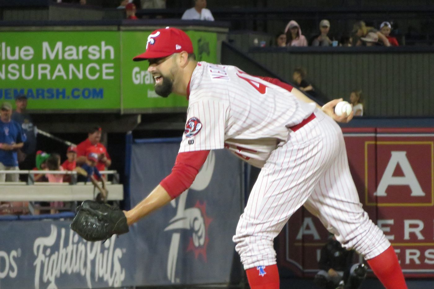 Phillies reliever Pat Neshek makes second rehab appearance, pitching an inning at Reading