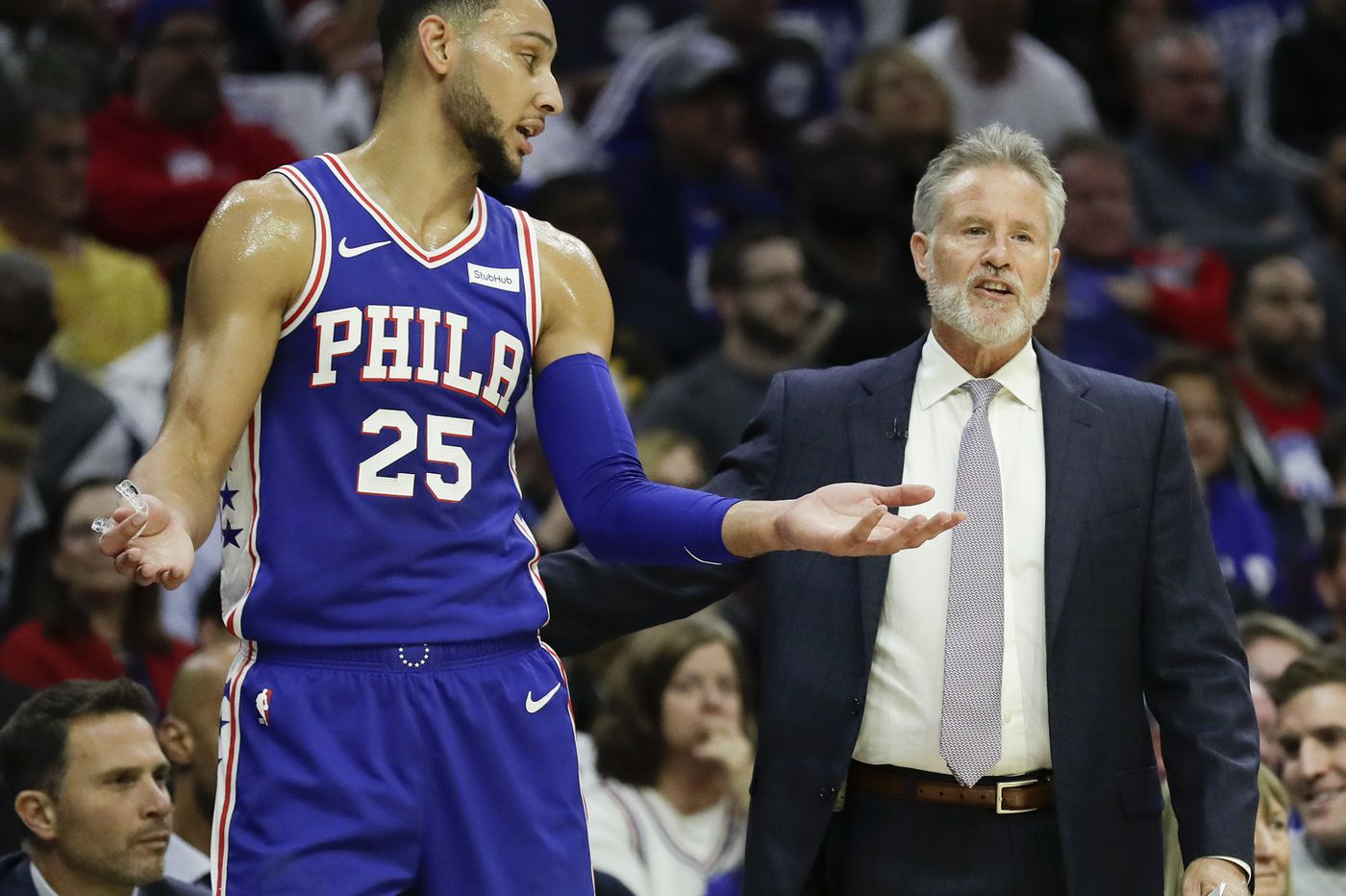promo code 23b88 57f68 Sixers' Brett Brown on Ben Simmons: 'He's worthy of being an ...