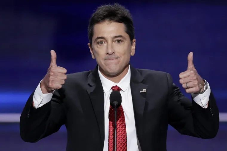 Actor Scott Baio after addressing the delegates during the opening day of the Republican National Convention in 2016.