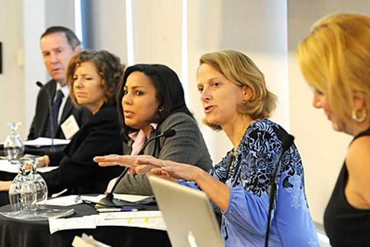 Drexel's Mariana Chilton (second from right) said poor nutrition causes lifelong developmental problems. (CLEM MURRAY / Staff Photographer)