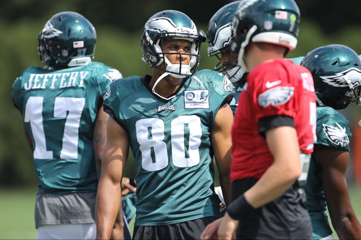 Carson Wentz, Jordan Matthews back together as Eagles