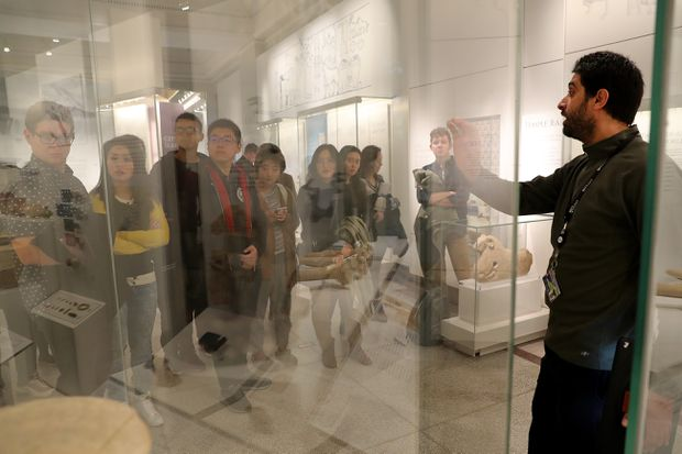 Iraqi and Syrian immigrants are now leading Penn Museum tours of the stunning ancient treasures from their home countries