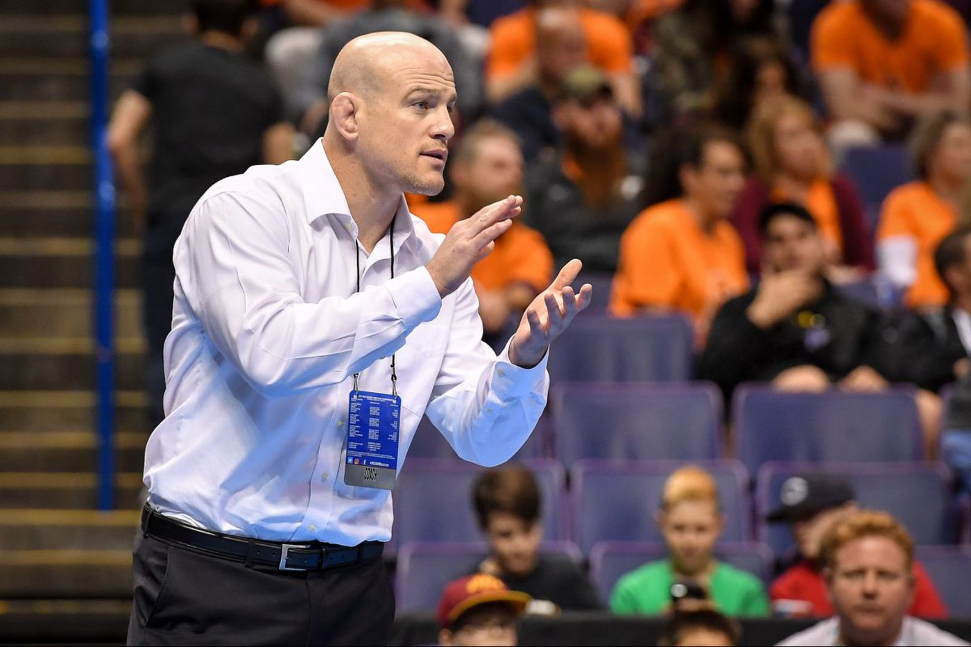 Cael Sanderson's wrestlers have a grip on Penn State fans