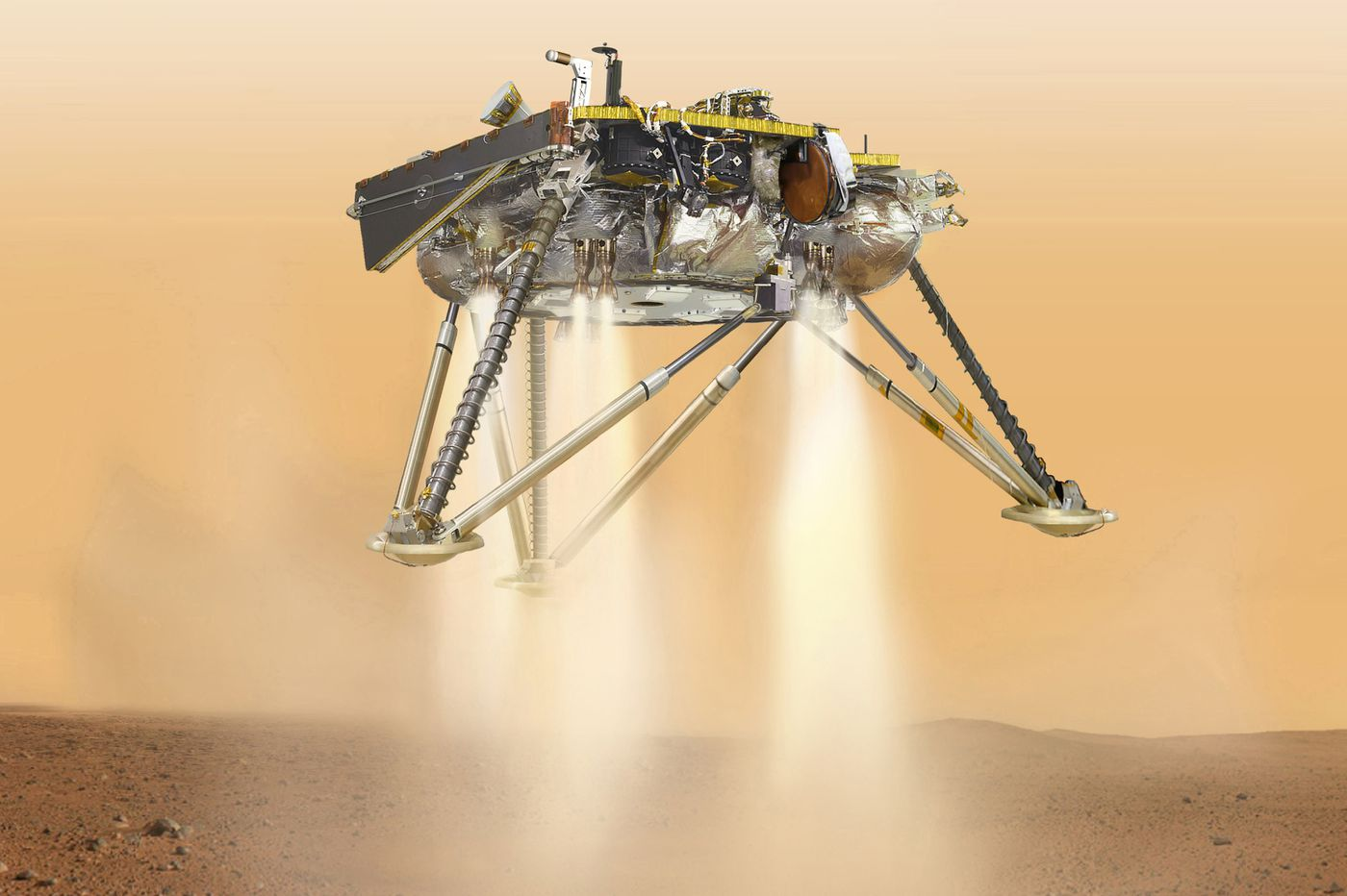NASA's Mars probe lands, immediately starts sending photos