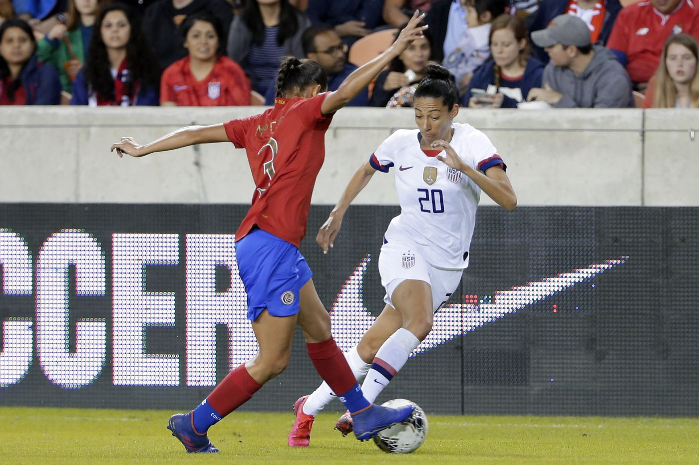 U.S. women beat Costa Rica 6-0, win Olympic qualifying group