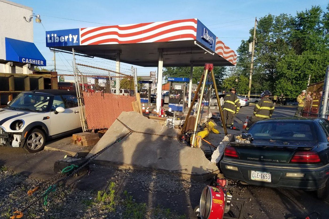 Rescue efforts end for man trapped underground in Bensalem gas station blast