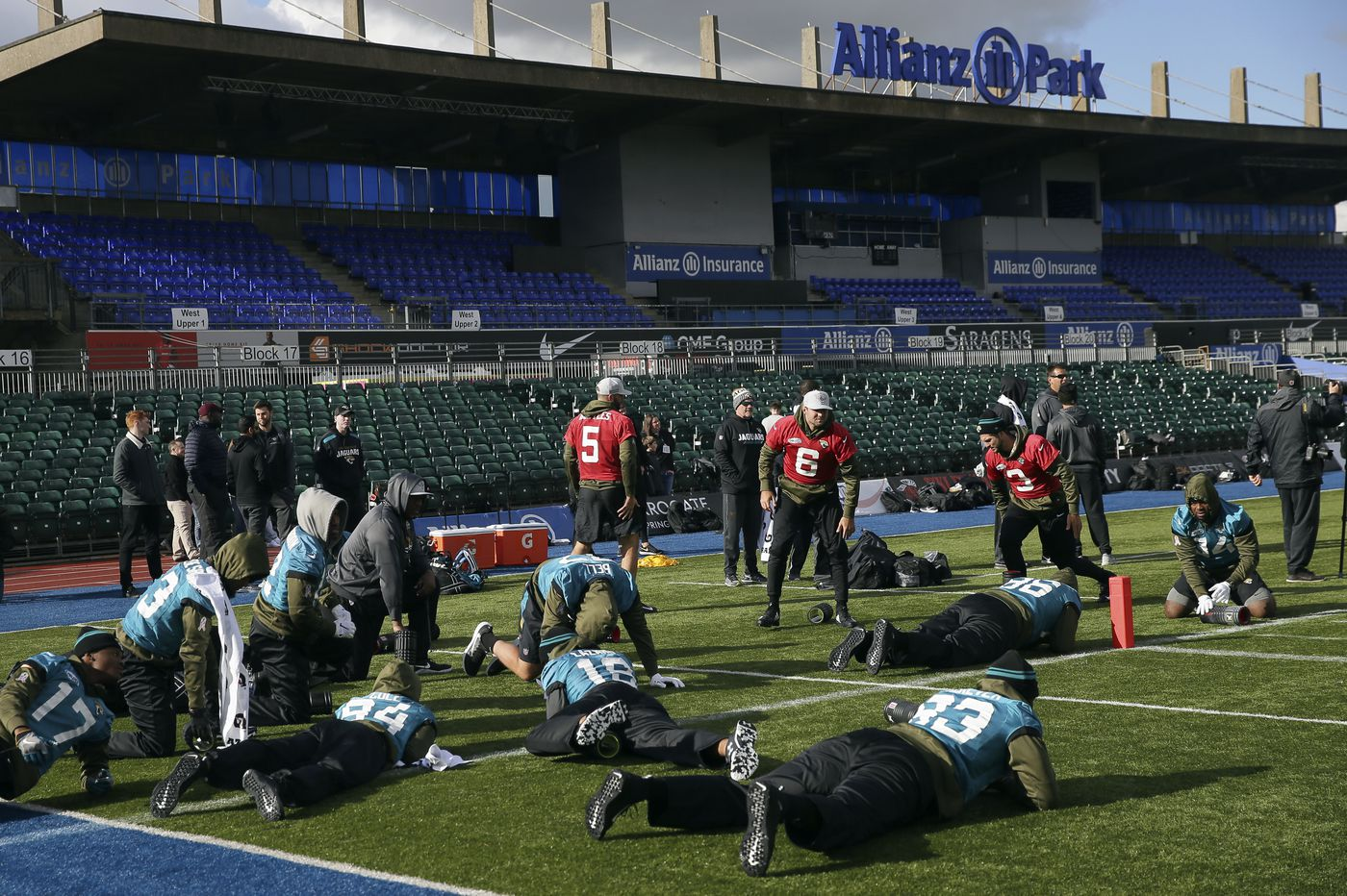 Four Jaguars players detained in London over bill restitution in London