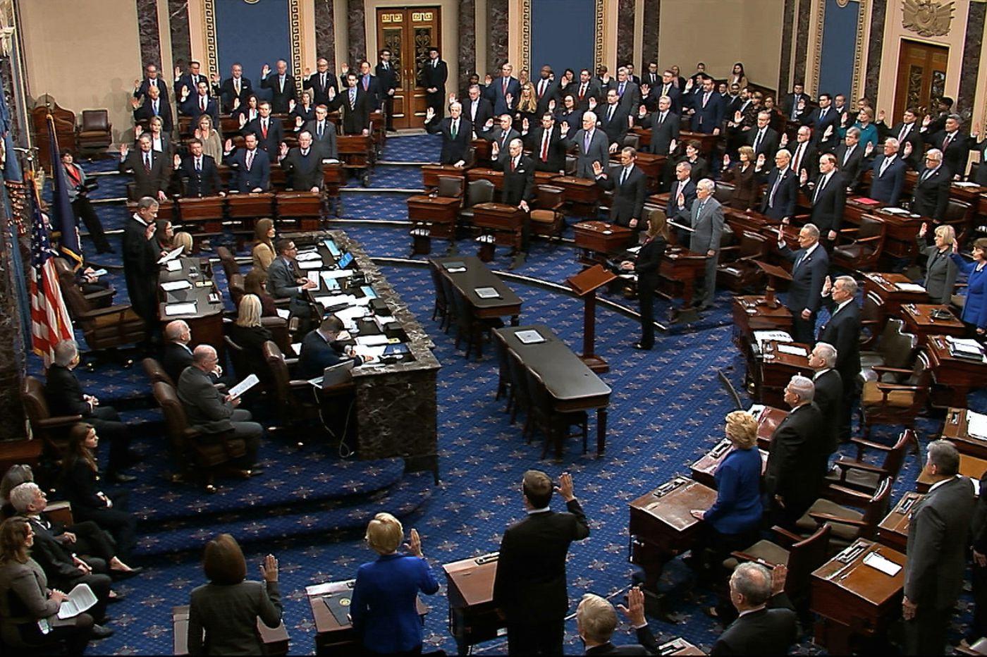 Trump impeachment trial begins, senators vowing 'impartial justice'