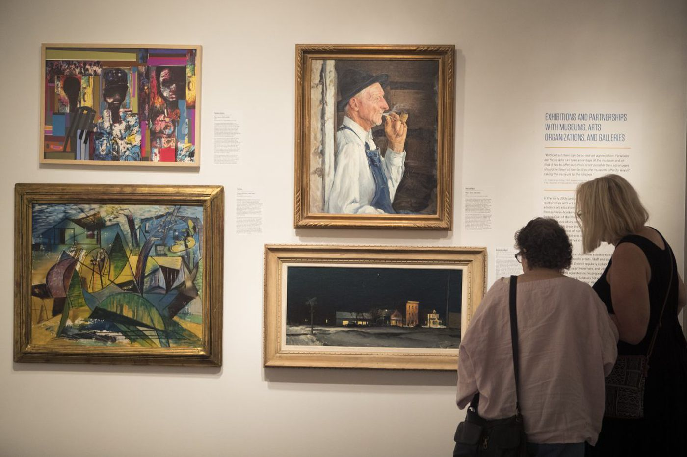Hidden for years, Philly schools' art hangs in a museum - for now