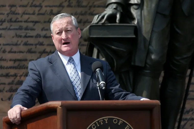 Mayor Jim Kenney, seen here on July 4 during the Celebration of Freedom ceremony at Independence Hall.