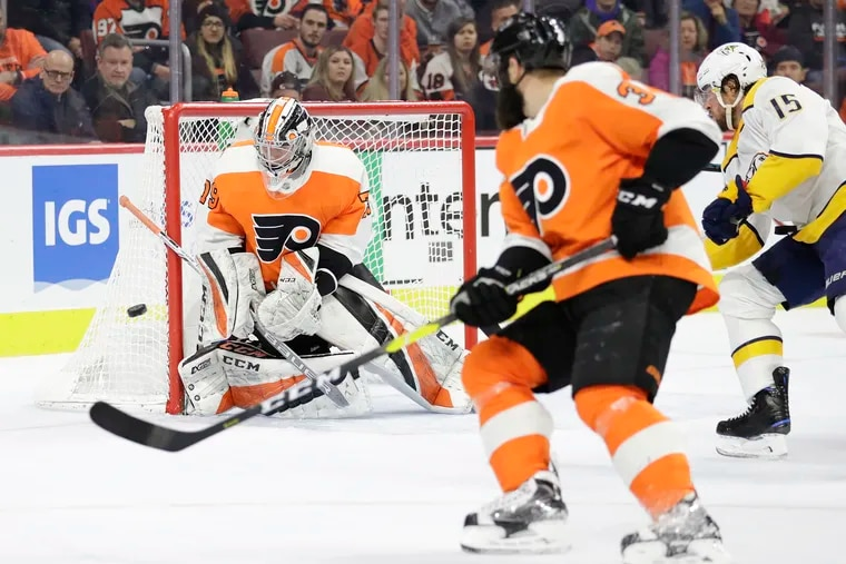 The Flyers will ride the hot hand of goalie Carter Hart when the Columbus Blue Jackets visit the Wells Fargo Center on Saturday afternoon.
