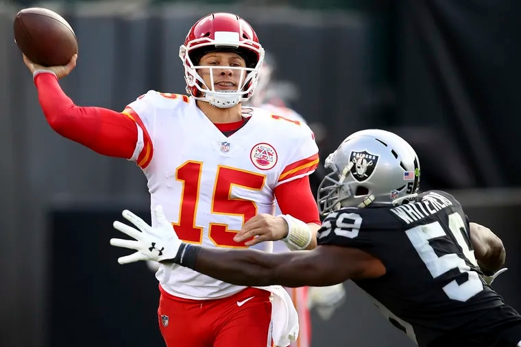 Chiefs quarterback Patrick Mahomes has put up 10 TDs in three games on the Raiders, covering twice.