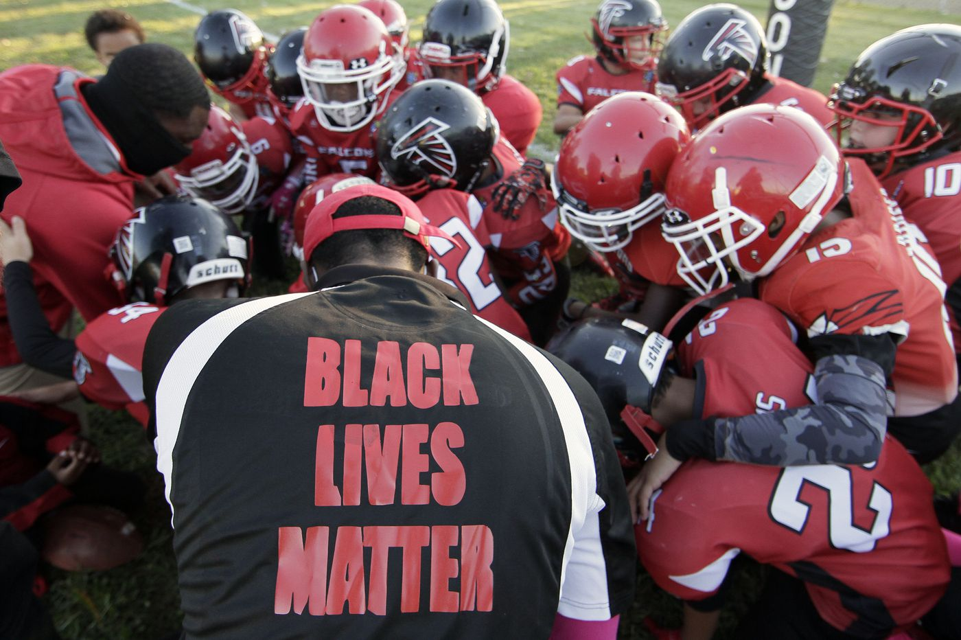 Coaches of a South Jersey football team were suspended for kneeling during the national anthem. Now people are threatening to quit the league