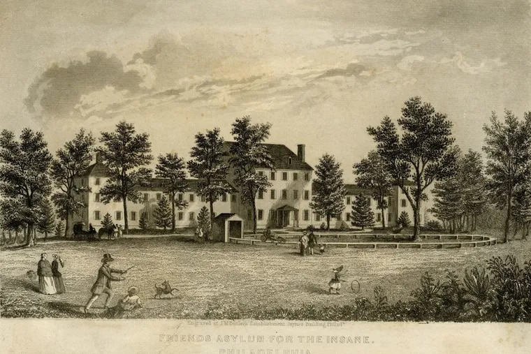"""""""Friends Asylum for the Insane. Philadelphia,"""" engraving by J. M. Butler (undated), HSP print collection (Collection V89), The Historical Society of Pennsylvania."""