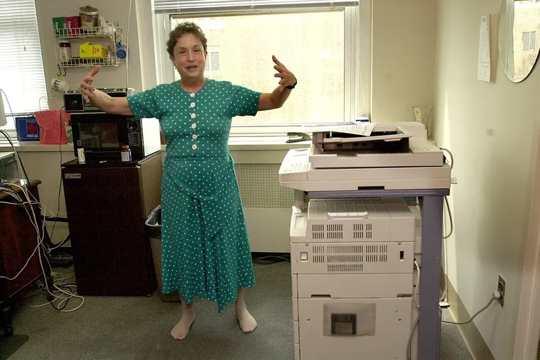 Rep Babette Josephs sometimes worked in her stocking feet in her Center City office.