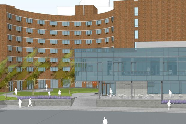 Drexel's Calhoun Hall to be renovated into honors dorms with new glass entrance