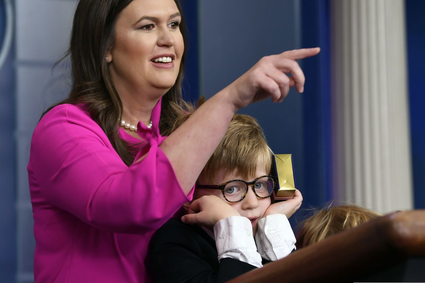 White House press secretary holds 1st press briefing since March 11, but for kids