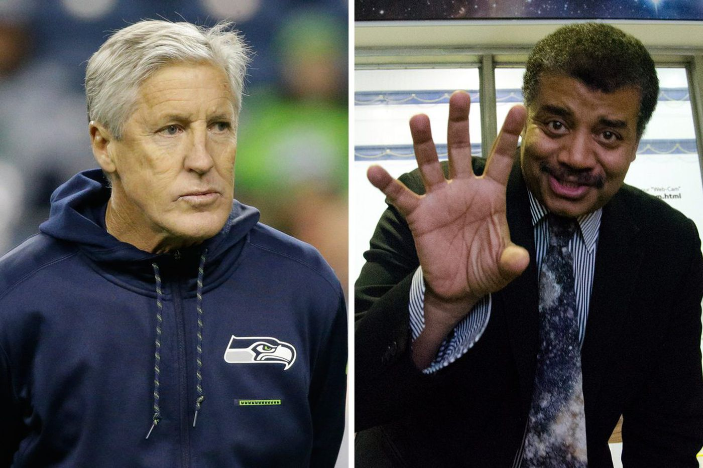 Pete Carroll thinks Neil deGrasse Tyson is on his side after Seahawks' controversial lateral. Not so fast
