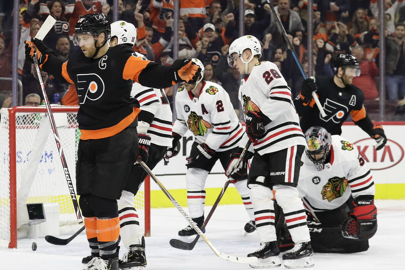 Flyers' Claude Giroux honored by NHL after sizzling week