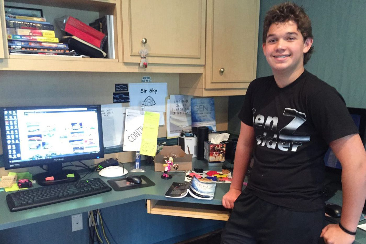 Dyslexic fight turns teen into author, entrepreneur
