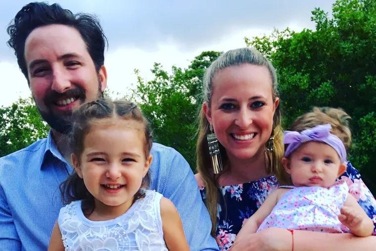 Jeffrey and Stephanie Marblestone with children Zoe (left) and Blake.
