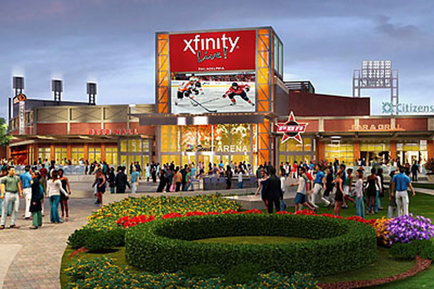Xfinity Live! to feature Clarke/Parent statue